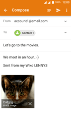 Wiko Lenny 3 - E-mail - Sending emails - Step 15