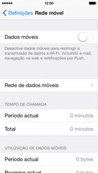 Apple iPhone 5s iOS 8 - Internet no telemóvel - Como ativar os dados móveis -  4