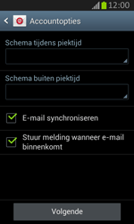 Samsung S7710 Galaxy Xcover 2 - E-mail - Handmatig instellen - Stap 16