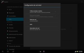 Sony Xperia Tablet Z - Internet - Activar o desactivar la conexión de datos - Paso 7