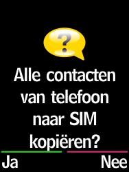 Emporia Select (V99-EF) - Contacten en data - Contacten kopiëren van toestel naar SIM - Stap 7