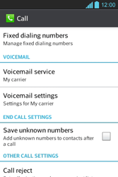 LG E610 Optimus L5 - Voicemail - Manual configuration - Step 5