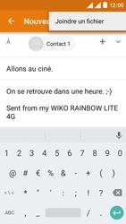 Wiko Rainbow Lite 4G - E-mails - Envoyer un e-mail - Étape 10