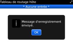 BlackBerry 9300 Curve 3G - Paramètres - Message de configuration reçu - Étape 7