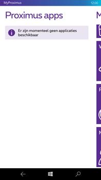 Microsoft Lumia 950 XL - Applicaties - MyProximus - Stap 21