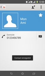 Sony Xpéria E1 Dual - Contact, Appels, SMS/MMS - Ajouter un contact - Étape 9