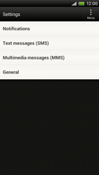 HTC S720e One X - SMS - Manual configuration - Step 4