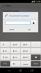 Sony Xperia M2 (D2303) - Voicemail - Manual configuration - Step 8