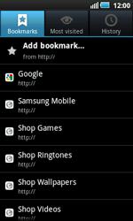 Samsung I5800 Galaxy Apollo - Internet - Internet browsing - Step 7