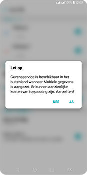 LG Q7 - Buitenland - Internet in het buitenland - Stap 6