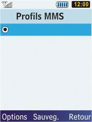 Samsung S5610 Primo - MMS - configuration manuelle - Étape 13