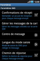 Samsung S5660 Galaxy Gio - SMS - configuration manuelle - Étape 4