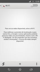 Sony Xperia M2 - Wi-Fi - Como ligar a uma rede Wi-Fi -  5