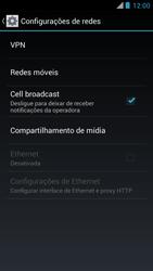 Motorola XT910 RAZR - Rede móvel - Como ativar e desativar uma rede de dados - Etapa 5