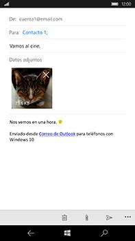 Microsoft Lumia 950 XL - E-mail - Escribir y enviar un correo electrónico - Paso 15