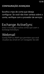 Nokia Lumia 920 - Email - Como configurar seu celular para receber e enviar e-mails - Etapa 9