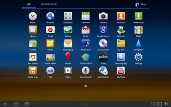 Samsung P7500 Galaxy Tab 10-1 - Internet - Enable or disable - Step 3