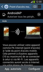 Samsung Galaxy Ace 3 - Internet et connexion - Partager votre connexion en Wi-Fi - Étape 7