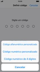 Apple iPhone SE - iOS 11 - Segurança - Como ativar o código de bloqueio do ecrã -  6