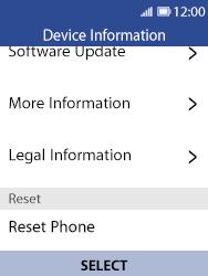 Nokia 8110 Banana - Device - Factory reset - Step 8
