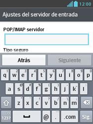 LG Optimus L3 II - E-mail - Configurar correo electrónico - Paso 9