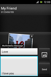 Sony ST21i Xperia Tipo - MMS - Sending pictures - Step 13
