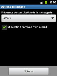 Samsung S5360 Galaxy Y - E-mail - Configurer l