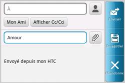 HTC A810e ChaCha - E-mail - envoyer un e-mail - Étape 6