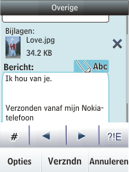 Nokia Asha 300 - E-mail - hoe te versturen - Stap 17