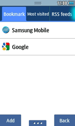 Samsung S5250 Wave 525 - Internet - Internet browsing - Step 7