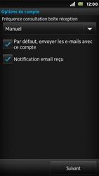 Sony ST25i Xperia U - E-mail - Configuration manuelle - Étape 15