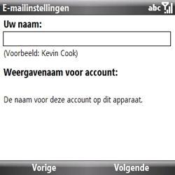Samsung B7330 Omnia Pro - E-mail - handmatig instellen - Stap 8