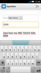 Alcatel OT-6012X Idol Mini - E-mail - Hoe te versturen - Stap 8
