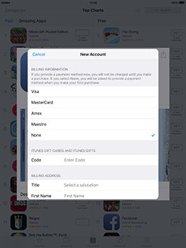 Apple iPad Air 2 iOS 10 - Applications - Create an account - Step 16