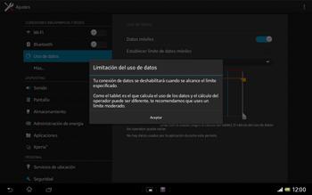 Sony Xperia Tablet Z - Internet - Ver uso de datos - Paso 6