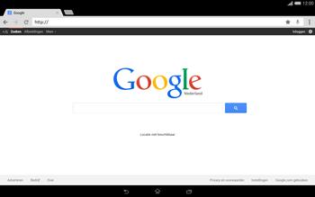 Sony Xperia Tablet Z2 4G (SGP521) - Internet - Hoe te internetten - Stap 14