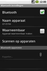 Samsung I5700 Galaxy Spica - Bluetooth - headset, carkit verbinding - Stap 9