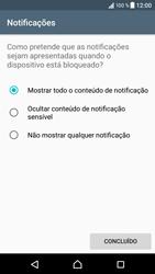 Sony Xperia XZ - Android Nougat - Segurança - Como ativar o código de bloqueio do ecrã -  12