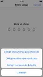 Apple iPhone 6 - iOS 11 - Segurança - Como ativar o código de bloqueio do ecrã -  6