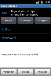 Samsung S5690 Galaxy Xcover - E-mail - Hoe te versturen - Stap 7