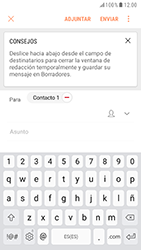 Samsung Galaxy S6 - Android Nougat - E-mail - Escribir y enviar un correo electrónico - Paso 8