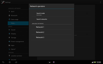 Sony SGP321 Xperia Tablet Z LTE - Network - Usage across the border - Step 8