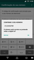 Sony Xperia Z3 Plus - Aplicações - Como configurar o WhatsApp -  7