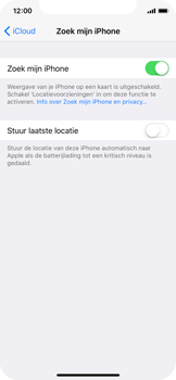 Apple iPhone X - Beveiliging en privacy - Zoek mijn iPhone activeren - Stap 7