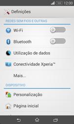 Sony Xperia E1 - Internet no telemóvel - Como configurar ligação à internet -  4