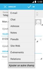 Bouygues Telecom Bs 403 - Contact, Appels, SMS/MMS - Ajouter un contact - Étape 10
