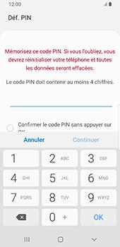 Samsung Galaxy S9 Android Pie - Sécurité - activéz le code PIN de l'appareil - Étape 7