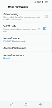 Samsung Galaxy S8 - Network - Change networkmode - Step 7