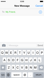 Apple iPhone 5c iOS 8 - Mms - Sending a picture message - Step 6