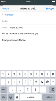 Apple iPhone 6s Plus - E-mails - Envoyer un e-mail - Étape 8
